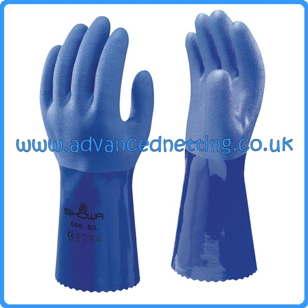 Showa 660 PCV Gloves - Size: 8/Medium Sold in Packs of 10
